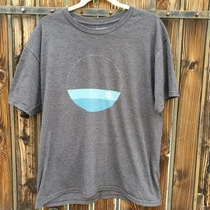 Billabong Charcoal Gray Graphic Tee L